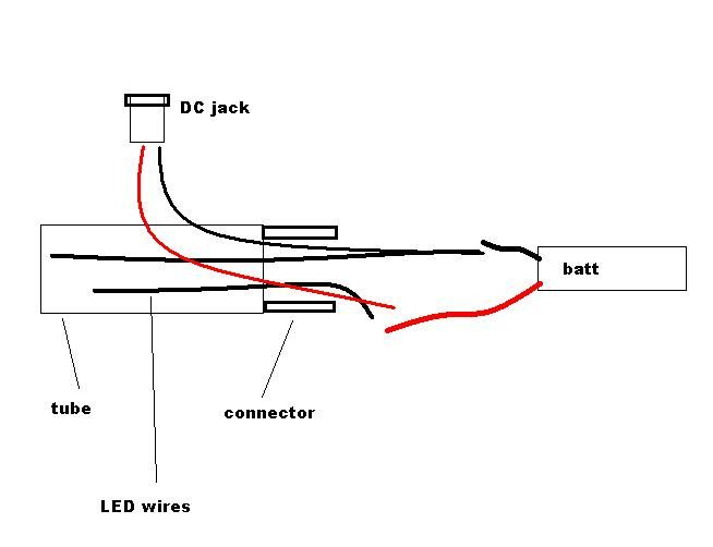 simpler way to connect dc jack  use separate wires to connect the dc jack to the battery after