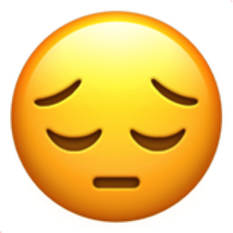 The Pensive Face Emoji On Iemoji Com Menggambar Emoji Emoji Stiker