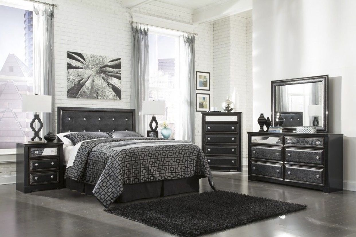 Black, Reptile and Rhinestone Bedroom set - Only the set ...