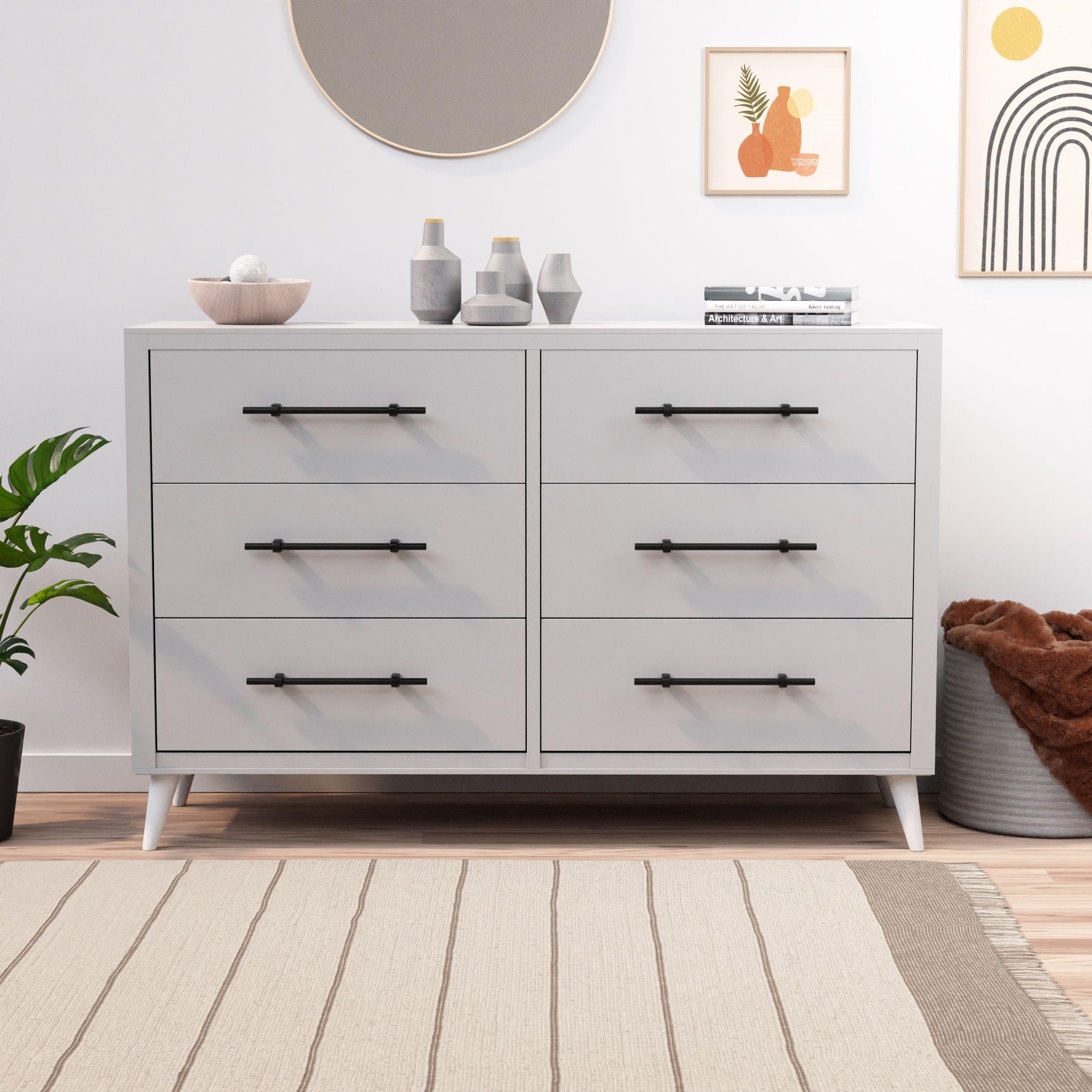 Rest Haven Mid Century Modern 6 Drawer Dresser White Walmart Com In 2021 Dresser Drawers Bedroom Furniture Dresser 6 Drawer Dresser [ 2000 x 2000 Pixel ]