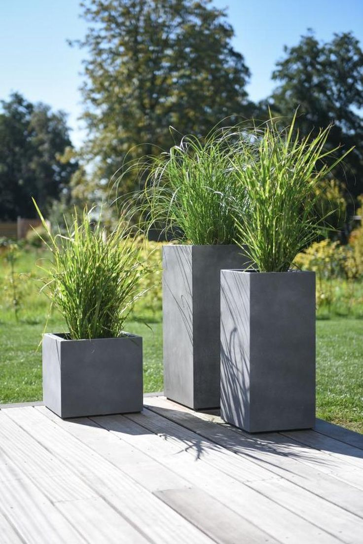 Photo of Planter i betongdesign grå, # Betong #Design #gardenLandscapedesignpatio #gray #Plante …