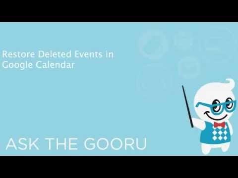 How To Restore Deleted Google Calendar Events The Gooru