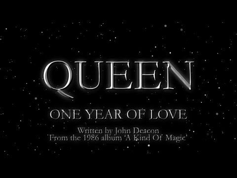Queen One Year Of Love Official Lyric Video Queen Lyrics Queen Videos Queen Love