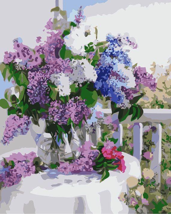 Lilac april от Marina Filimonova на Etsy | Раскраска по ...