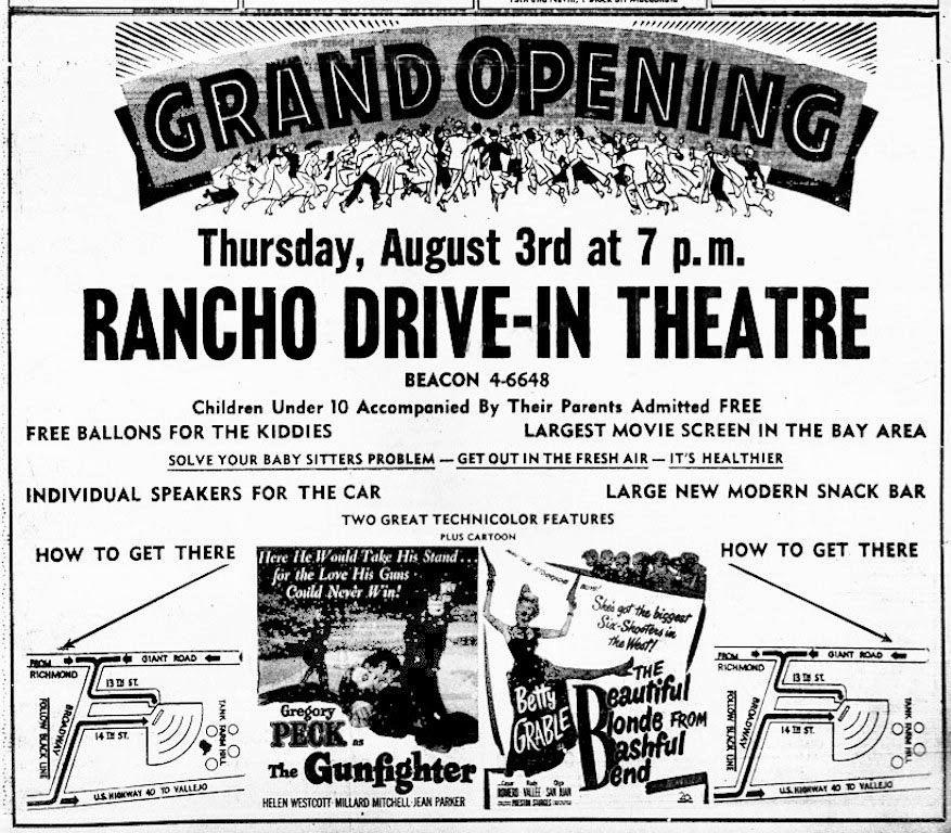 Lost movie theatres of richmond california rancho drive