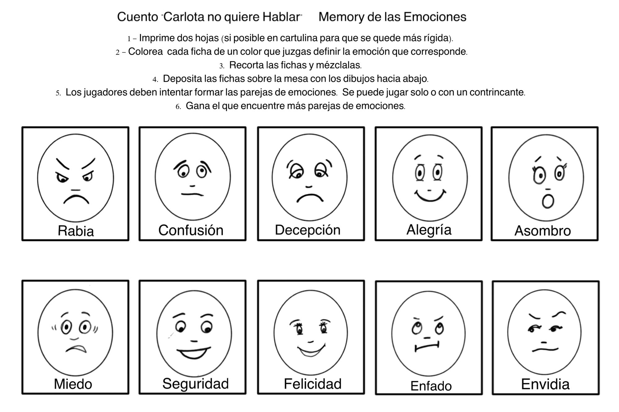 Pin En Actividades Emociones