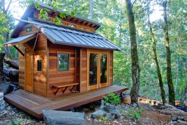 Pequeña casa en el bosque del condado de Sonoma - http://diseno-de ...