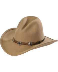 8f6b58fb934 Silverado Mens Gus Crushable Wool Western Hat, Taupe | Me~In~Hats in ...