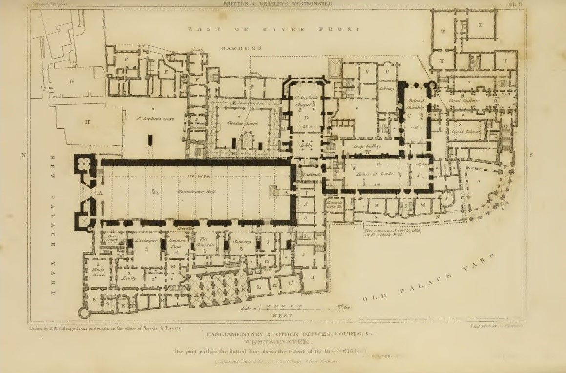 Floor plan of the old westminster palace london