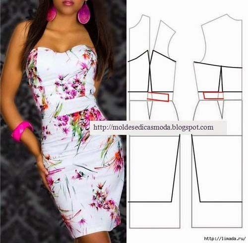 Patrones gratis para hacer vestidos bonitos04 dise o y - Almazuelas patrones gratis ...