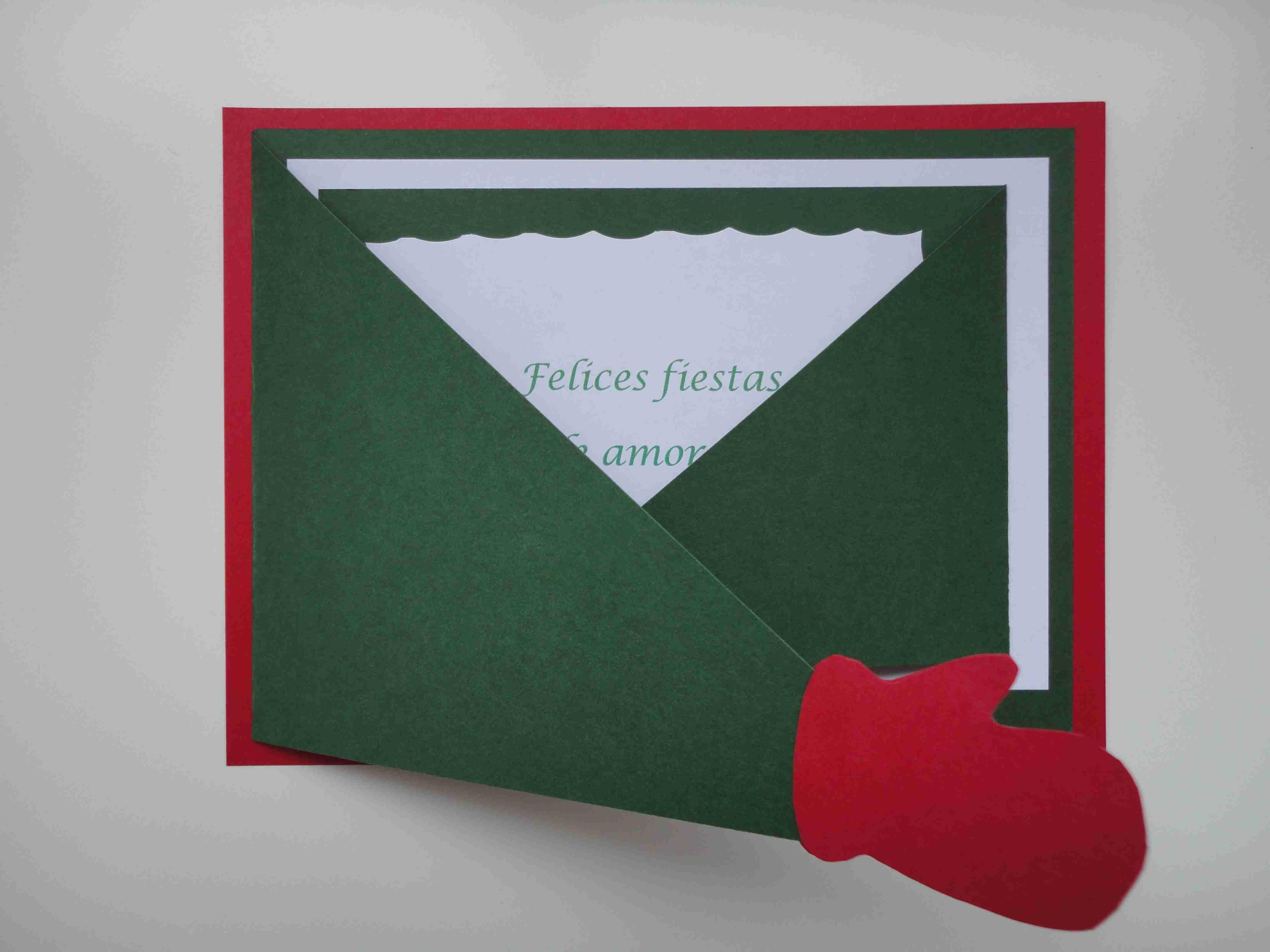 Tarjetas de navidad reciclar papel cart n libros - Tarjetas de navidad manuales ...