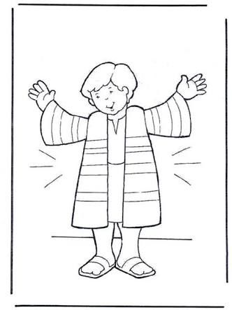 Jacob Giving Joseph the Coat of Many Colors coloring page | Free ... | 443x332