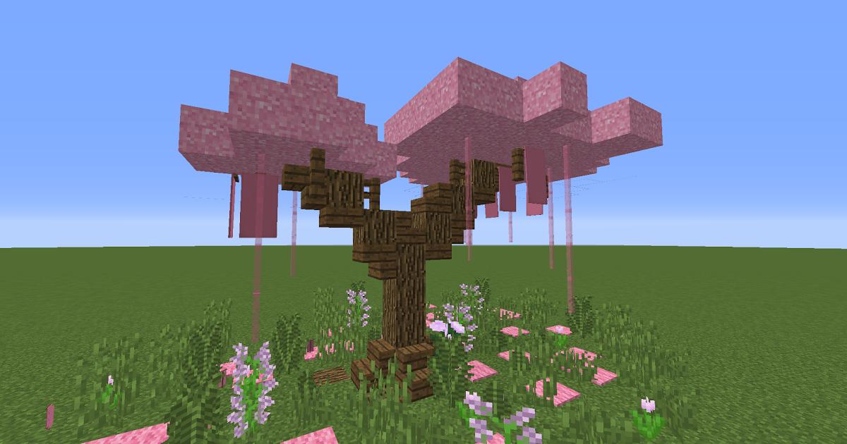 Sakura Tree Using Pink Concrete Powder Minecraft Uptodatemod Mods Minecraft Curseforge Building A Mansio Minecraft Creations Minecraft Designs Minecraft Wall