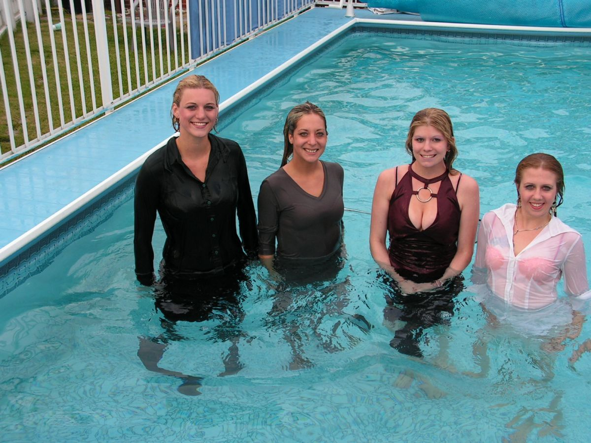 Wetlook pool party. | Dressy-Dipping - Dressing Up To Go Swimming ...