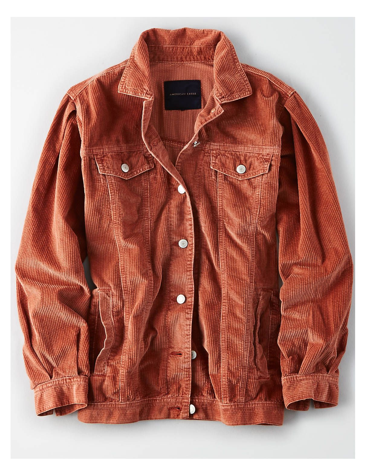 Ae Corduroy Trucker Jacket Rust American Eagle Outfitters Corduroy Jacket Womens Corduroy Jacket Trucker Jacket Outfit [ 1575 x 1211 Pixel ]