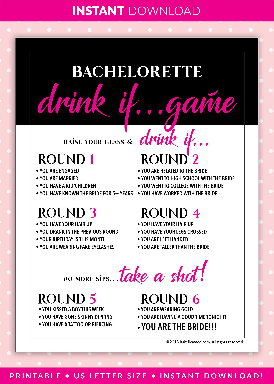 Digital Download Dirty Bachelorette Games Bachelorette Party Games Rose Gold Bachelorette Games Bachelorette Game Printables