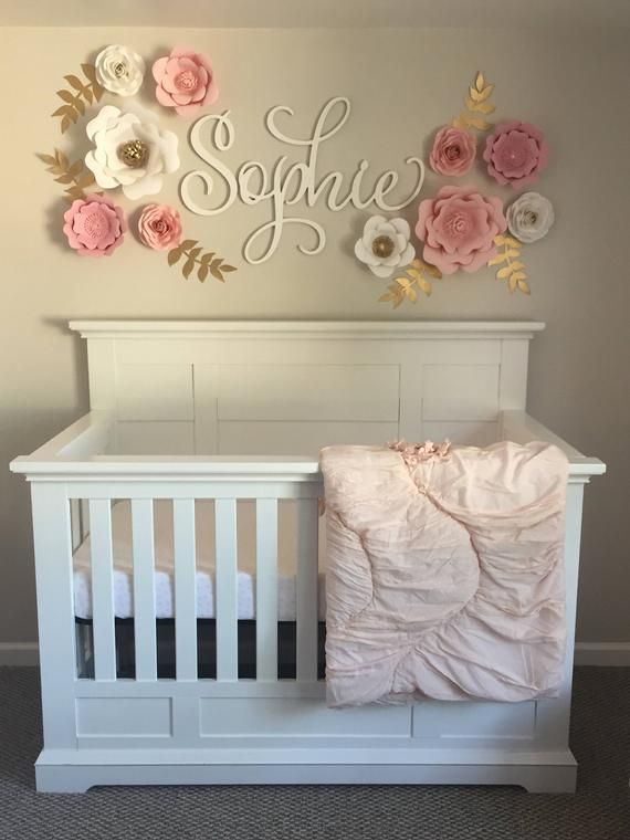 Wooden name sign nursery name sign nursery decor sign for baby nursery large wooden letters - Tenture chambre bebe ...
