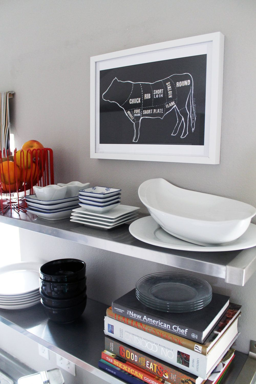 ON SALE Limited Edition Cow Butcher Chart by ChrislovesJulia