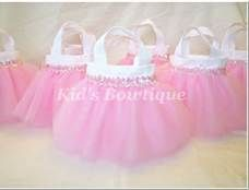 Baby Shower Favors Bags ~ Sweet baby pink sequins party favor tutu bags baby shower gift