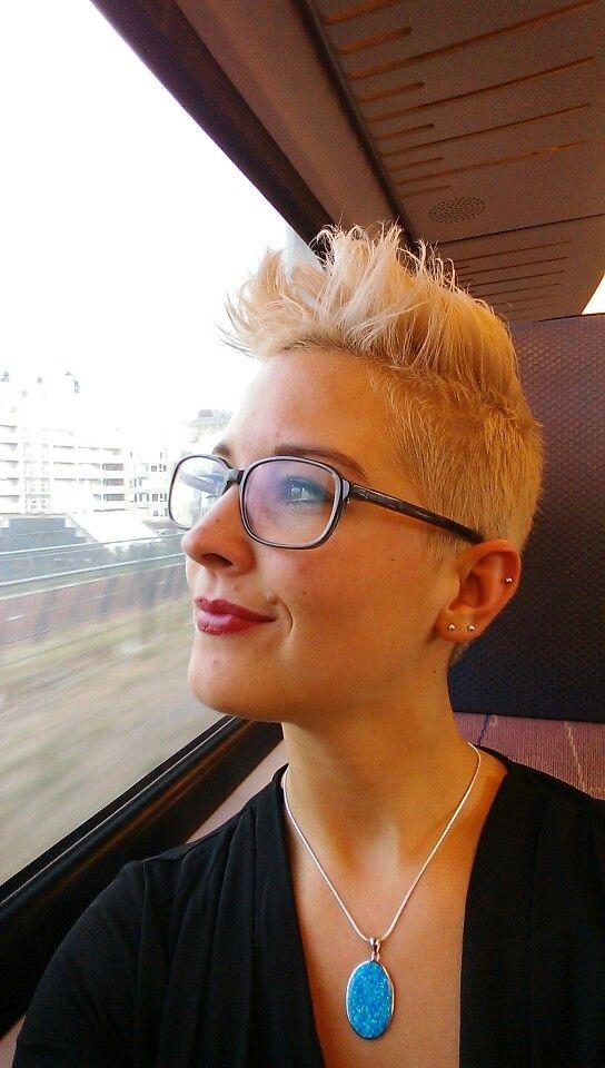 Blond faux hawk