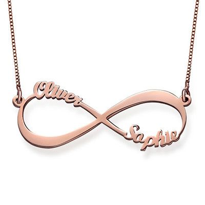 Infinity name necklace with rose gold plating forever love words embrace togetherness while showing the meaning of forever with our infinity name necklace in aloadofball Gallery