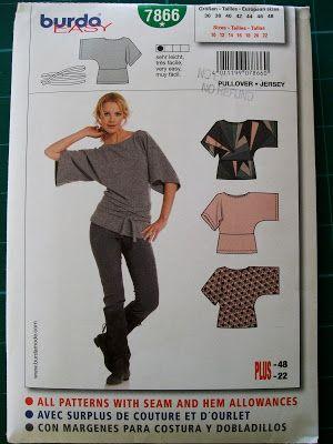Burda 7866 - Kimono Sleeve Top