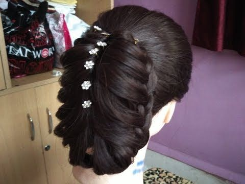 Latest Party Twisted Bun Hairstyle Wedding Hairstyle For Medium Hair Easy Hairstyle Youtube Cool Hairstyles New Year Hairstyle Hair Styles