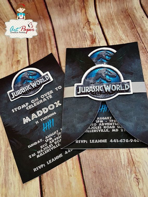 10 Jurassic Park Invitations Jurassic Party By Artpaperparty