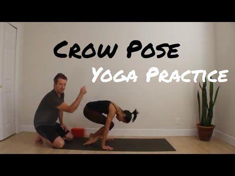 crow pose bakasana 25 minute yoga practice crow pose