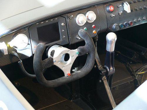 Audi R8R LMP Prototyp silver 1998 detail cockpit | by stkone