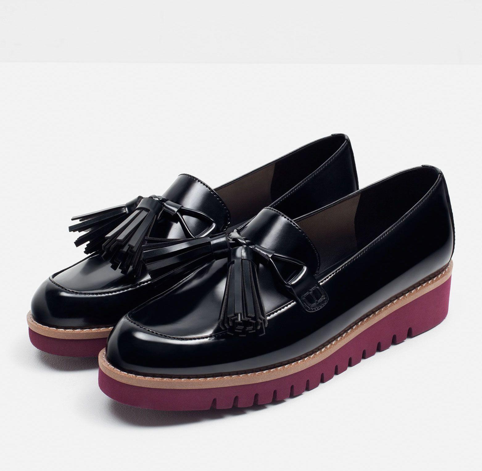 35535b79174 Zara Tasseled Platform Loafers More