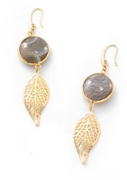 2f8b6b0d70cc NICE regalos hermosos- Aretes de piedras de cristal. Joyeria con 4 baños en oro  de 18 kilates.