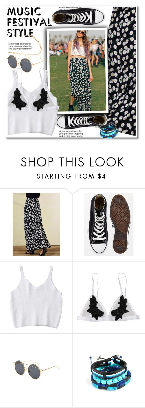 """""""Show Time: Best Festival Trend"""" by paculi ❤ liked on Polyvore featuring Converse, Summer and festivalfashion"""