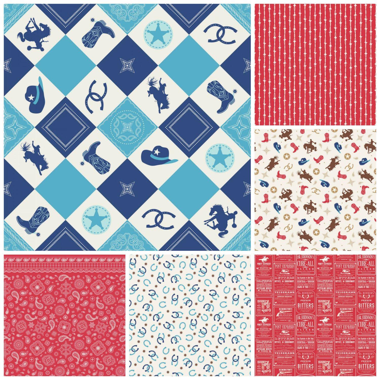 Fat Quarter Bundle - Cowboy Fabric - Riley Blake Fabric - Homemade ... : western quilting fabric - Adamdwight.com