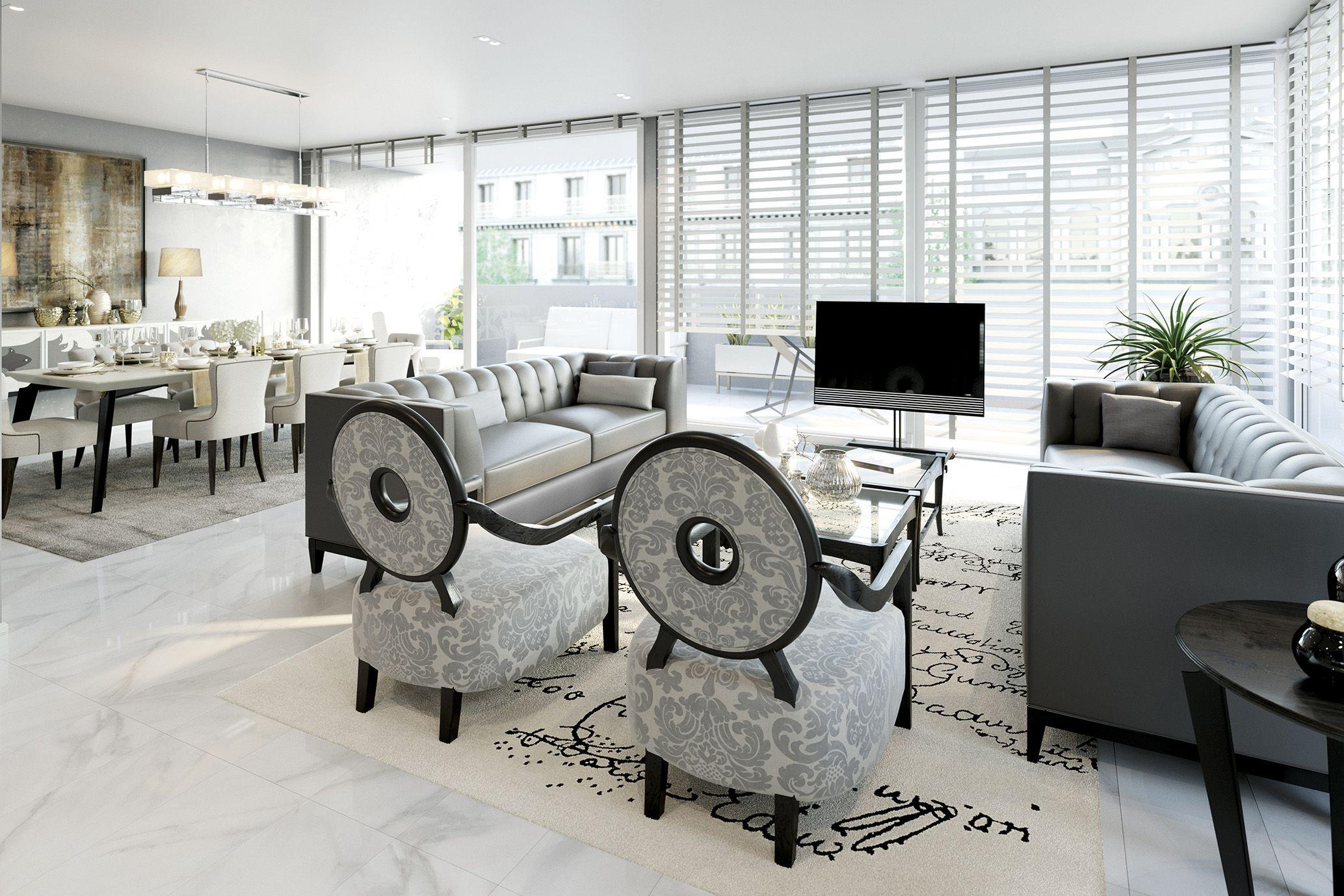 Simple and elegant contemporary living room. The Unique Eclipse ...