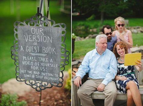 Video Guest Book idea