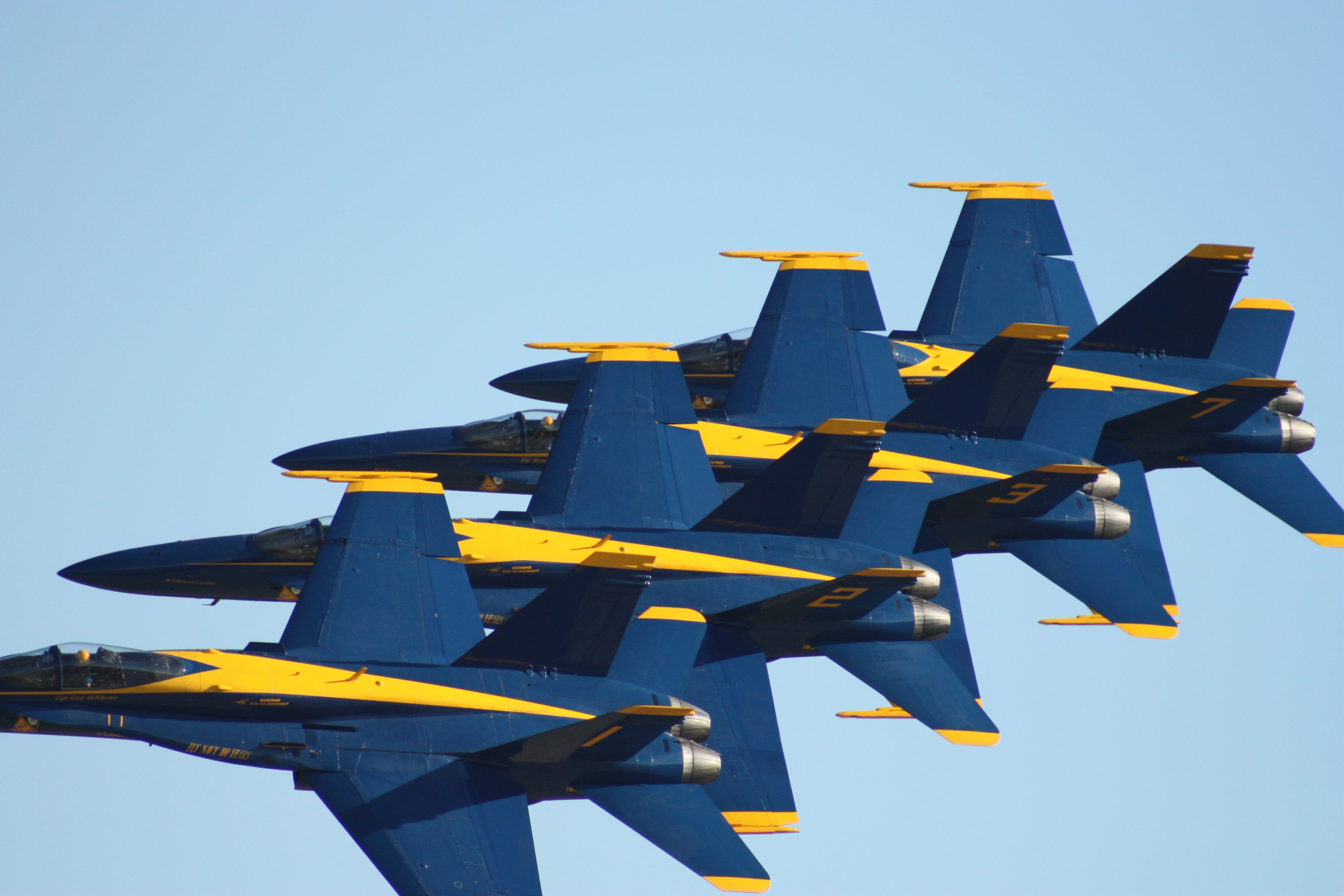 Watching the Blue Angels practice in Pensacola Florida