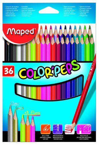 Maped Color/'Peps Aqua Watercolour Colouring Pencils Pack of 24