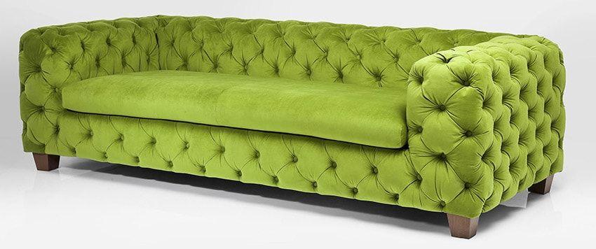 sofá verde chester terciopelo | Greenery, el Pantone 2017 y otros ...