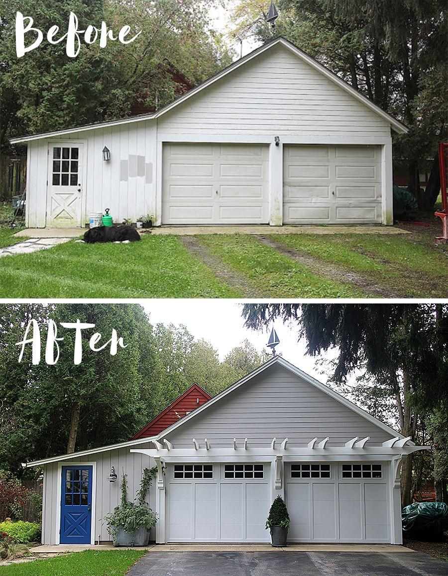 Cottage Living And Gardening For Those Who Just Can T Wait Home Exterior Makeover Garage Door Design Garage Door Makeover