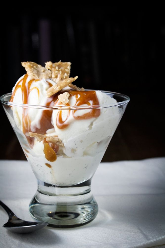 Tahini Caramel and Sesame Butter Brittle Sundae | Katie at the Kitchen Door