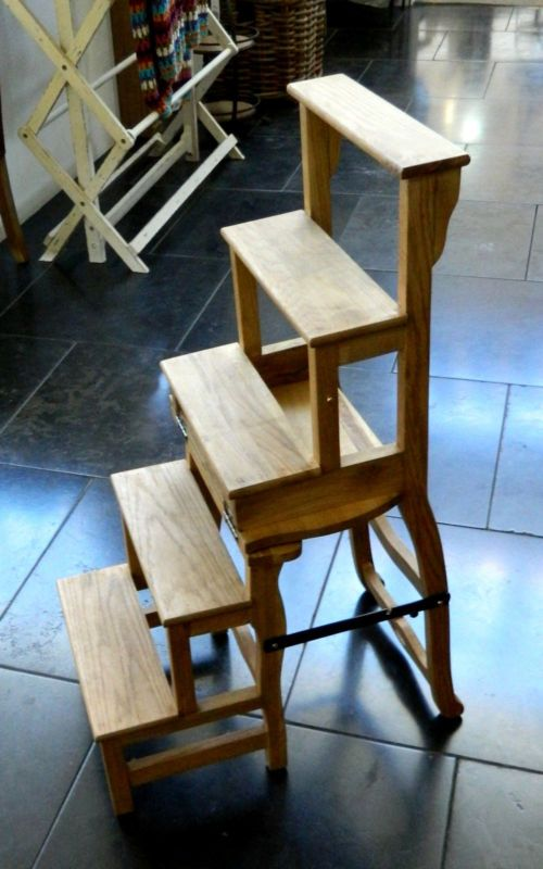 Hollywood Weathered Oak Chair Ladder From Schots Home Emporium 349 This Is A Kitchen Type Chaire That Turns Into Wonderful For Short People