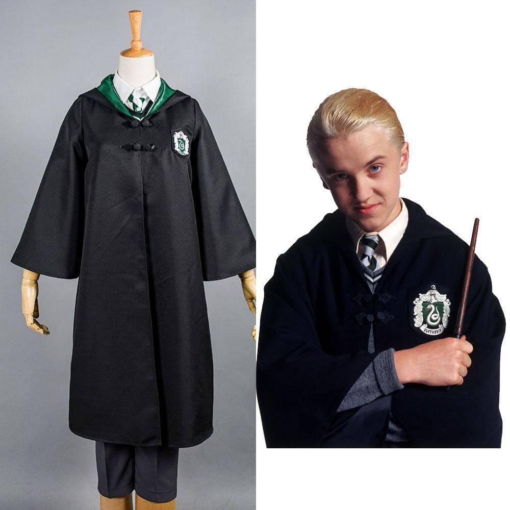 Harry Potter Slytherin Uniform Draco Malfoy Cloak Only Cosplay