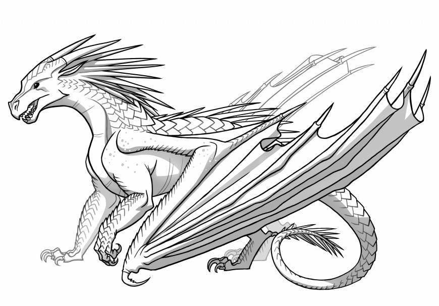 baby ice dragon coloring pages - photo#27