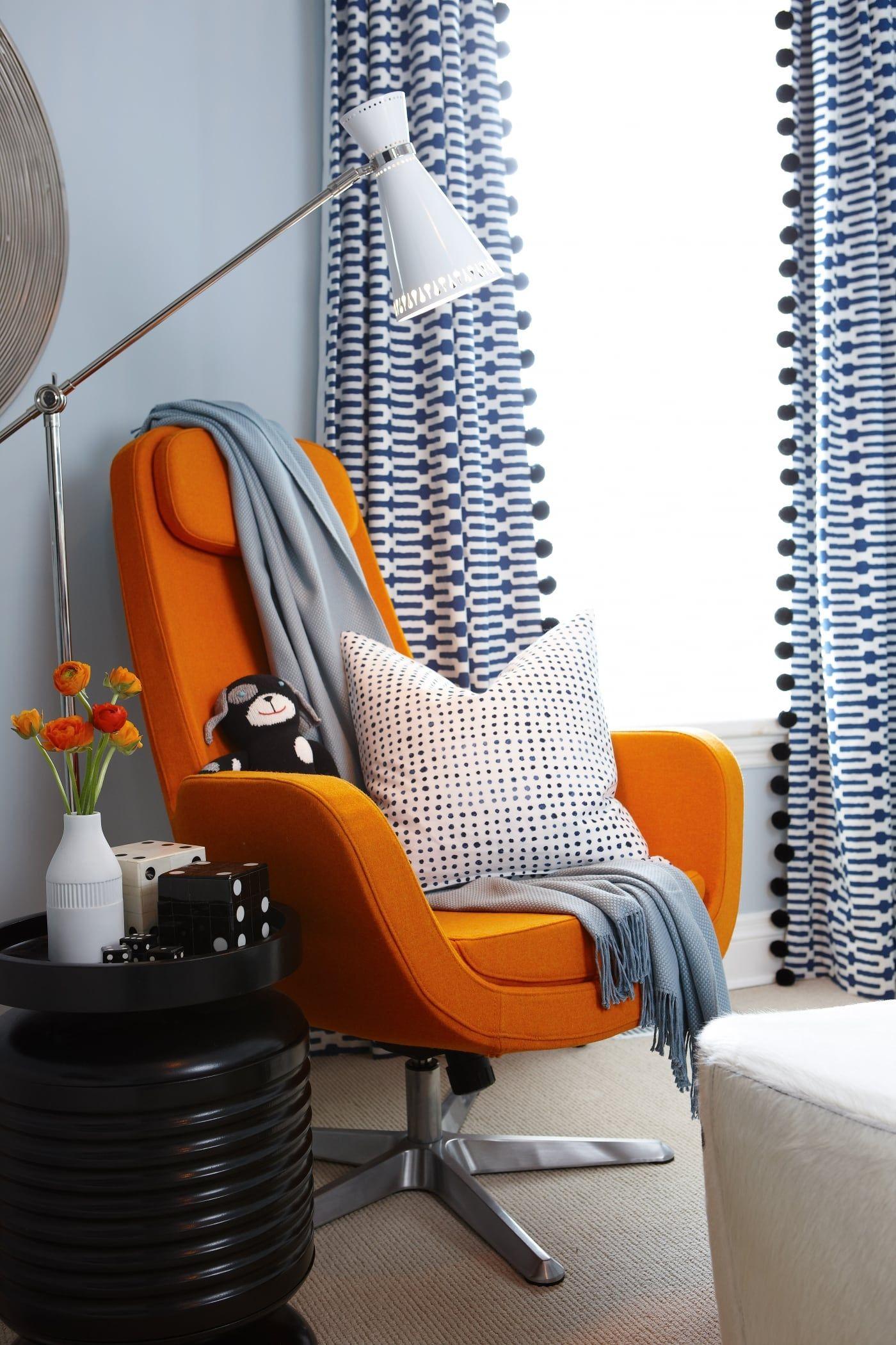 Sophistonursery lounge orange nursery details pinterest
