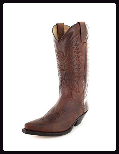 Sendra Boots 2073 Sprinter 7004 Westernstiefel für Damen und Herren Braun