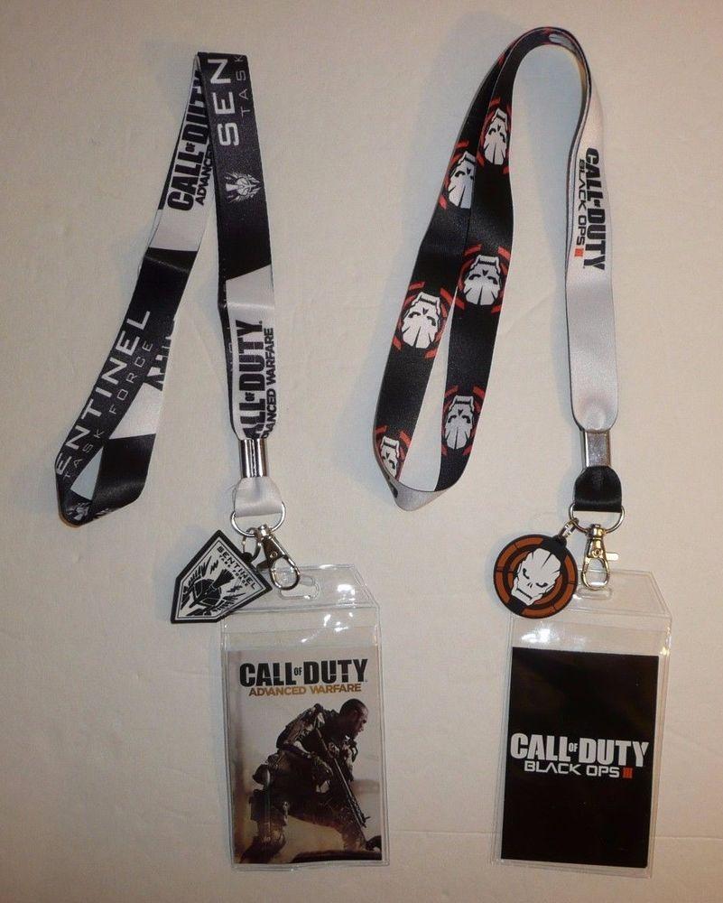 Call Of Duty Black Ops 4 LANYARD ID Holder Keychain