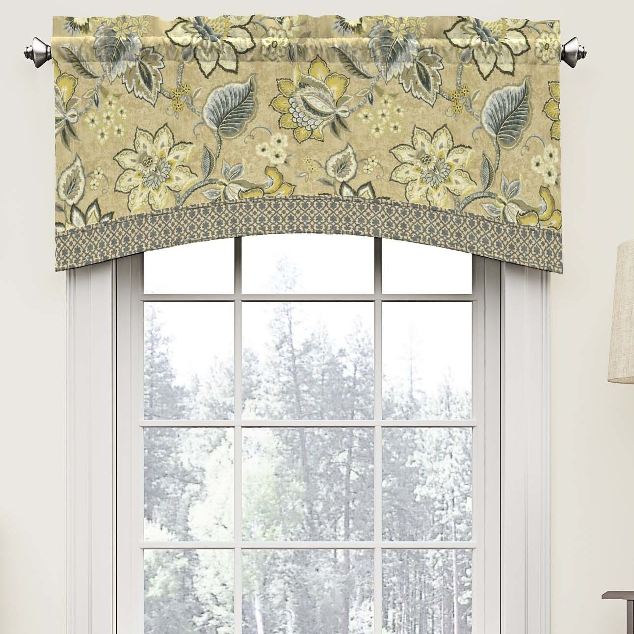 Montego 52 arched curtain valance guest bedroom for Arched kitchen window treatment ideas