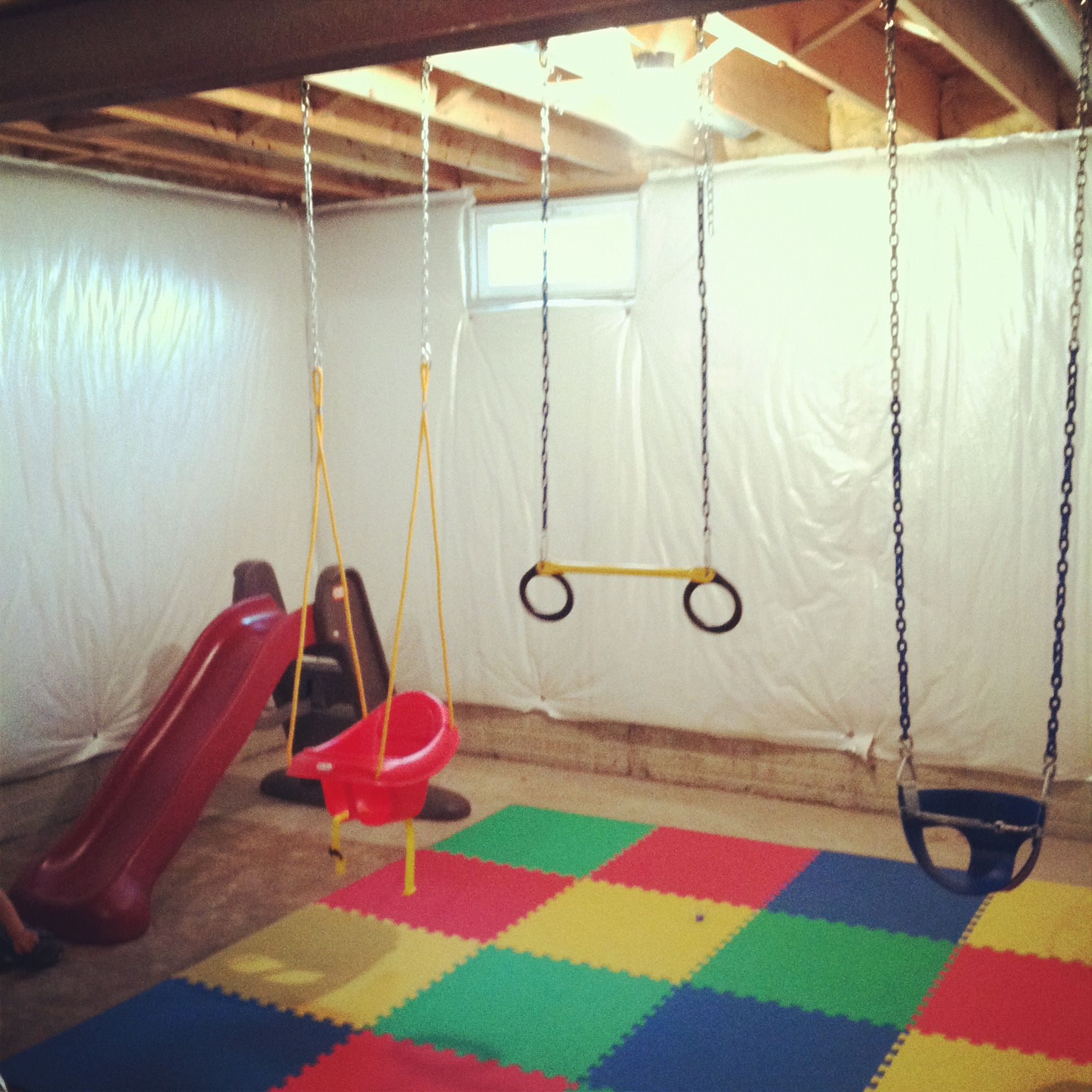 A new take on a playroom for the kids, an Indoor swing set! Cost ...