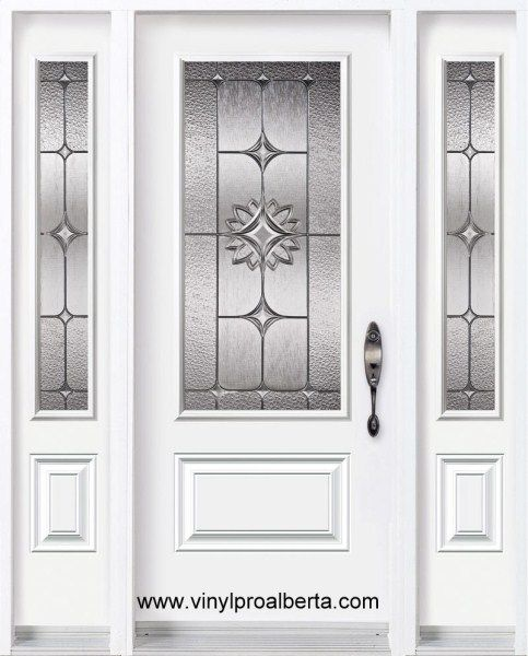 Cheap Entry Doors With Side Lights Steel Entry Door 2 Sidelights